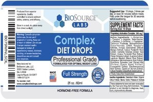 Complex Diet Drops ingredients
